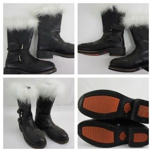 Harley Davidson leather 'santa' boots 🎅